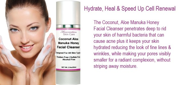 Coconut Aloe Manuka Honey Facial Cleanser for Reasons to Exfoliate Then Cleanse Your Face Blog